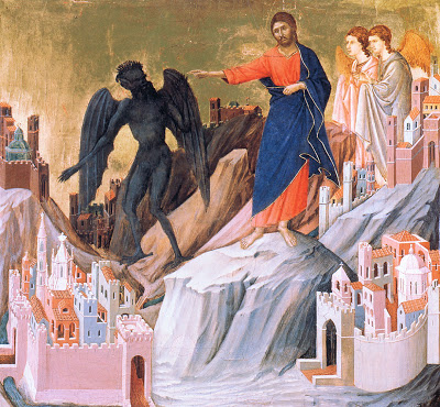 The Temptation of Christ on the Mountain (Duccio di Buoninsegna)