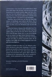 Omslag Zweedse vertaling De ontdekking van de hemel Achterkant